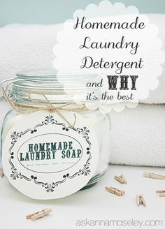 Homemade laundry detergent recipe & why it