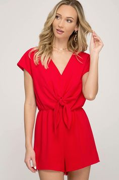 3792e36ff496 Let s Get It Started Red Romper