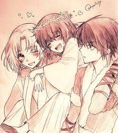 Soo-won, Yona and Hak as kids- Yona of the Dawn/ Akatsuki no Yona