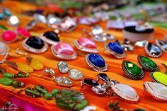Earring heaven.  http://the-style-spectrum.blogspot.in/2013/03/jewelry-scavenging-street-fest.html