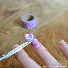 Trimming tape for Washi Tape Nail Art   Hello Little Home #nails #nailpolish #manicure