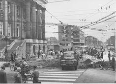 Grote markt noordzijde, herstel na de oorlog ca 1950