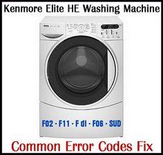 Kenmore Elite He3t Dlf Or F Error Code Fix Washer