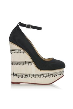 MUSIC! Music! Music! fall 2012, Charlotte Olympia, shoes, wedges, platforms, white, black