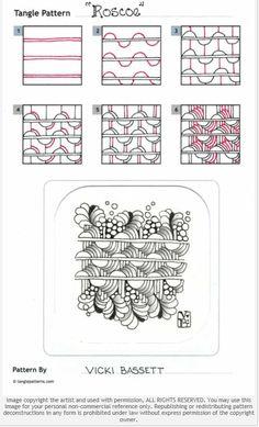 How to draw Zentangle: Roscoe