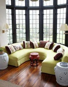 Circular Sofa in Drawing Room