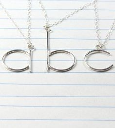 Handcrafted to represent a little one, your own name or your most significant other, this initial necklace is formed from solid sterling silver. Silver wire is carefully shaped into a lowercase letter, soldered together and tumble polished for strength and shine. Each monogram hangs from a delicate flat cable chain and comes packaged in a gift-wrapped box, ready to give to someone special or unwrap for yourself.