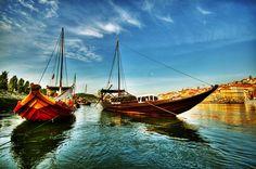 Barcos Rabelos, Porto, Portugal