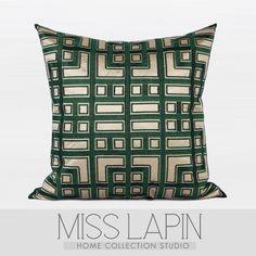 新中式/样板房家居软装沙发靠包抱枕/深绿色中式古典图案绣花方枕-淘宝网