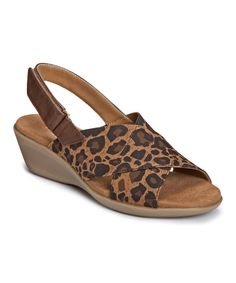 Look at this Aerosoles Leopard Badlands Elastic Slingback Sandal on #zulily today!