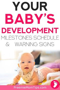 Keep your baby milestones by month in check with this comprehensive guide to the first year! Understand your baby's monthly development stages. Baby Development By Week, Baby Development Milestones, 5 Month Baby Milestones, Language Development, Baby Timeline, 5 Month Old Baby, Newborn Care, Baby Newborn, Baby Baby