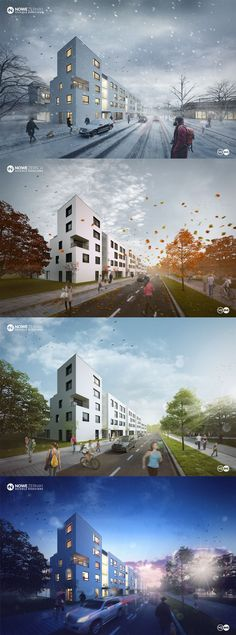 Part of a new housing estate in Wroclaw.