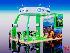 Stand Promocional II-2 - Art em 3D - Projeto desenvolvido para apresentação as Empresas de Stands como Portfólio
