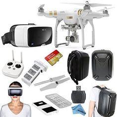DJI Phantom 3 Professional #quadcopter Drone Bundle with Zeiss VR One Virtual Reality Headset  #follow #drones #virtualreality