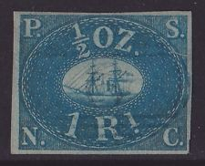 Perú 1857 Pacific Steam Navigation Company 1r certificado de photo Rara Original