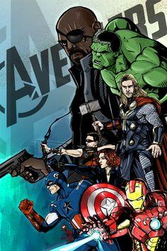 #Avengers #Fan #Art. (Avengers Assemble!) By: TheJarett. (THE * 5 * STÅR * ÅWARD * OF: * AW YEAH, IT'S MAJOR ÅWESOMENESS!!!™) ÅÅÅ+ Marvel Dc Comics, A Comics, Avengers 2, Manga Characters, Super Heros, Hulk, Fans, Star Wars, Deviantart