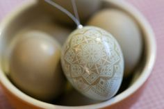 Christmas is on it's way! Unusual Christmas ornament --- pysanky Etched Pheasant Egg Batik Christmas by SheCanLaugh on Etsy