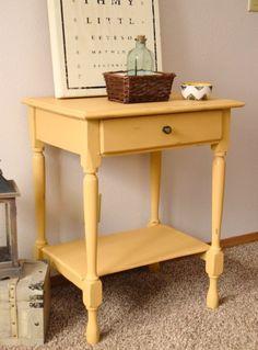 Hello Yellow!   Timeless Creations, LLC  Chalk painted table, paint a wooden table, painted table inspiration, yellow painted table, annie sloan's Arles