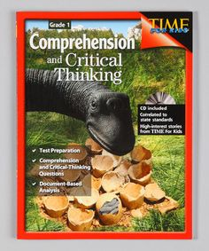 Look at this #zulilyfind! Comprehension & Critical Thinking: Grade 1 Workbook & CD-ROM by Shell Education #zulilyfinds