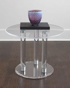 Anthony Acrylic Side Table at Horchow.