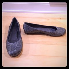 BCBG Sparkly Flats - Brand New These Swarovski Crystal flats from BCBG are brand new. Size 9.5 - perfect condition. BCBGMaxAzria Shoes Flats & Loafers