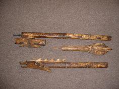Borneo Bone Dart Blow Gun Extensively carved with by LuciesLuvlies,