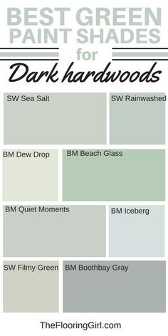 best shades of green paint for dark hardwood flooring #green #shades #paint #darkhardwood #diypainting