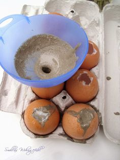 DIY: Concrete Easter Eggs or Do you fancy Easter . – Smillas Wohngefühl Smilla& feeling of living: DIY: Concrete Easter Eggs or do you fancy Easter decorations? Concrete Crafts, Concrete Projects, About Easter, Diy Ostern, Egg Decorating, Easter Crafts, Happy Easter, Diy For Kids, Easter Eggs