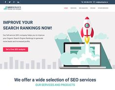 """Check out new work on my @Behance portfolio: """"SEO Service Landing Page""""…"""