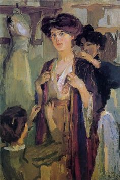 Visit to the Milliner ~ Isaac Israels