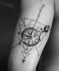 28 Ideas For Travel Drawing Compass Tattoo Designs