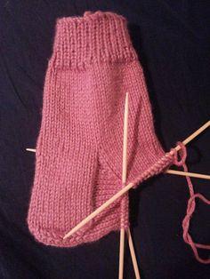 Como tejer calcetines, asi queda el empeine terminado