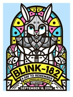 Blink-182 Abbotsford Poster by Don Pendleton's