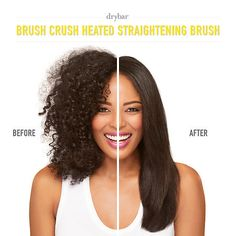 Shop Drybar's Brush Crush Heated Straightening Brush at Sephora. This straightening brush combines heat with a paddle brush to create a smooth, frizz-free look. Curly Hair Tips, Curly Hair Styles, Natural Hair Styles, Natural Curls, Frizz Free Hair, Curly Hair Problems, New Hair Growth, Mixed Hair, Hair Loss Women