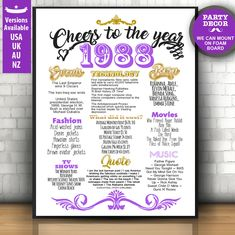 30th birthday for her decorations, 30th birthday for her, 30th birthday sign, 30th birthday props | INSTANT DOWNLOAD by LUCIAandLUCIANA on Etsy