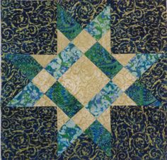 Fabriquilt Star Block BH Finished block