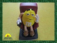 Retro Yellow M&M Candy Dispenser By Mars Inc. by KressHillVintage, $32.00