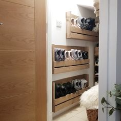 For the Home Shoe storage hallway wooden crates ideas Planting in rose gardening is not Wooden Shoe Racks, Diy Shoe Rack, Wooden Crates Shoe Storage, Rustic Shoe Rack, Wooden Boxes, Wall Mounted Shoe Rack, Shoe Wall, Wall Shoe Rack, Wall Racks
