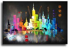 Afbeeldingsresultaat voor schilderijen van skyline rotterdam