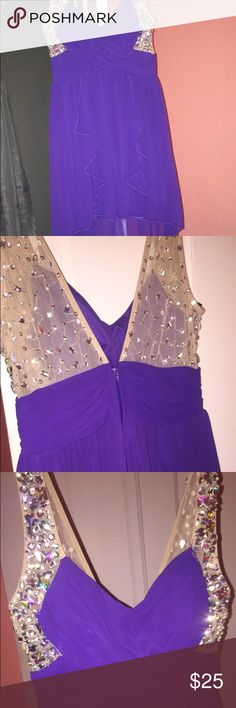 Homecoming dress Purple dress size 7 & it's barely been worn! Deb Dresses High Low