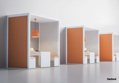 Bureaux Acoustic room By fantoni, acoustic office booth with built-in lights, acoustic room Collection Tall Cabinet Storage, Locker Storage, Office Dividers, Office Pods, Open Space Office, Hollow Core Doors, Double Vitrage, House Entrance, Sound Proofing