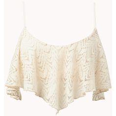 Crochet Lace Crop Top ($18) via Polyvore