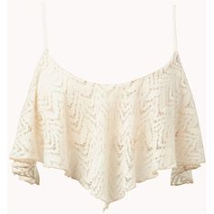 Crochet Lace Crop Top ($18) ❤ liked on Polyvore
