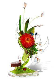 sugar sculpture of flowers