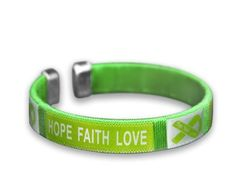 Wholesale Pack - 50 Bracelets Fundraising For A Cause Cerebral Palsy Awareness Green Silicone Bracelets Child Size