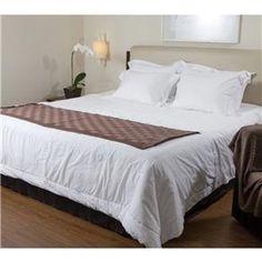 Jogo de cama king em algodão egípcio branco: 1 lençol de baixo com elástico, 1 lençol de cima, 1 fronha