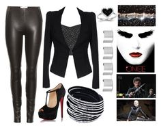 """""""Steal Swan's Style"""" by book-girl-4 ❤ liked on Polyvore featuring Once Upon a Time, Maison Margiela, Liviana Conti, Christian Louboutin and Kevin Jewelers"""