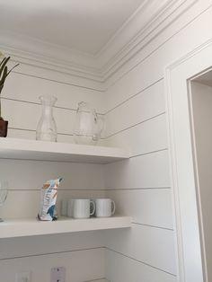 Sherwin Williams Alabaster 7008 matte walls, eggshell finish little house on Fisher Lane