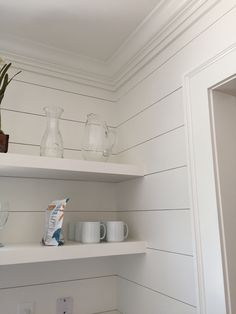 Sherwin Williams Alabaster 7008 matte walls, eggshell finish little house on Fisher Lane
