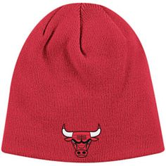 280326fc677 Get this Chicago Bulls Red Skull Knit Hat at ChicagoTeamStore.com Adidas Cap